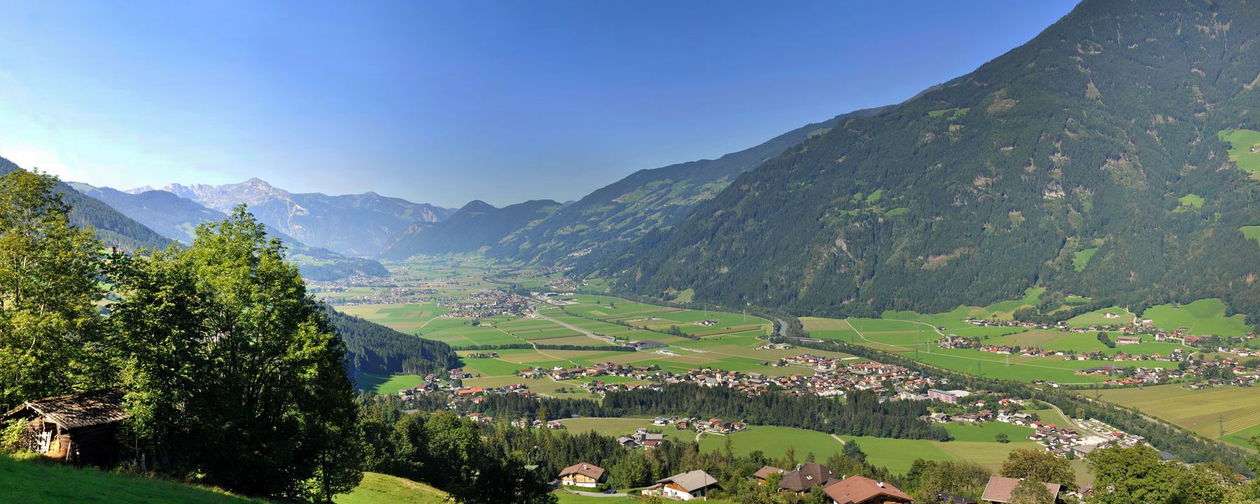 View of Fügen in the Zillertal